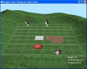 Penguin Cow Tipping